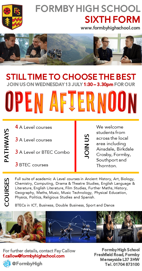 SIXTH FORM OPEN AFTERNOON final