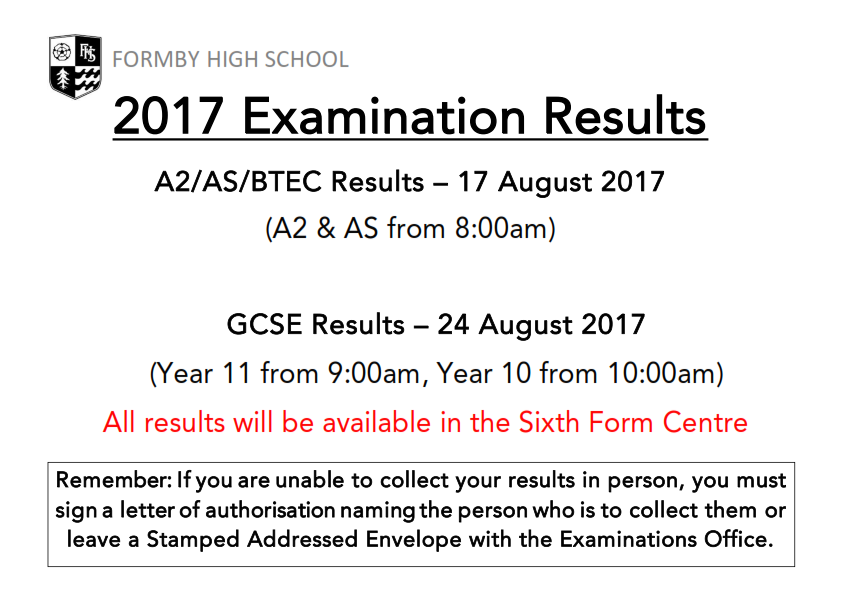 2017 Exam Results Collection Information_001