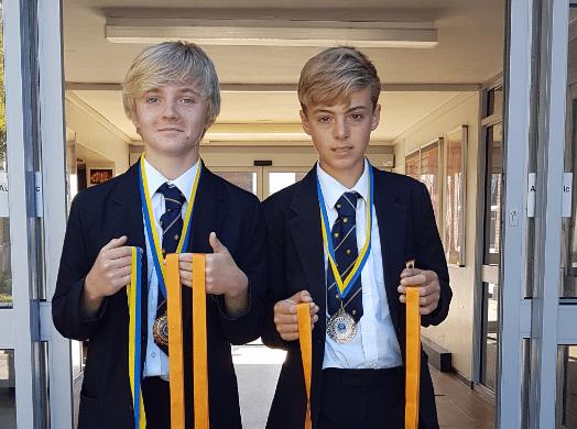 George and Joseph U14 Football Champs