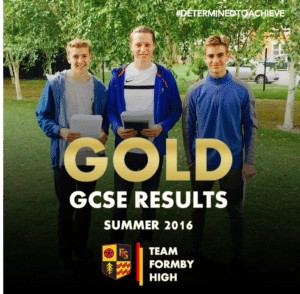 TEAM FORMBY HIGH GCSE GOLD 1