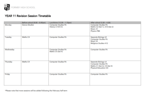 Revision Sessions Available