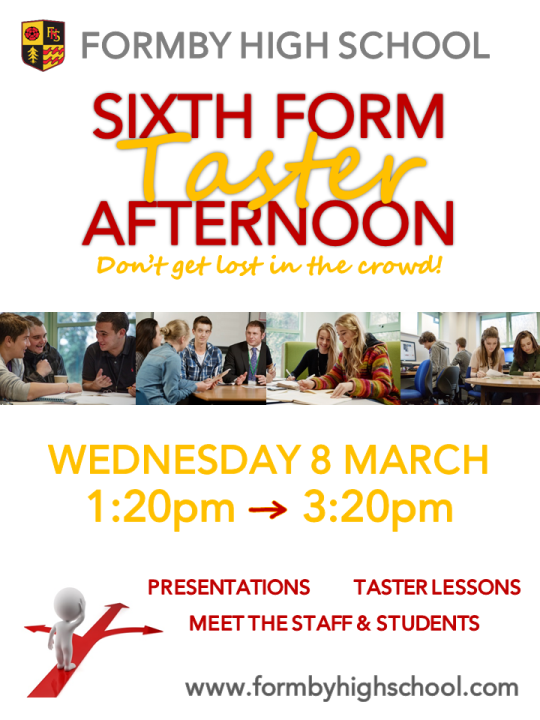 SIXTH FORM Taster Afternoon