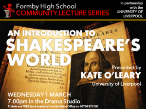 FHS COMMUNITY LECTURE SHAKESPEARE