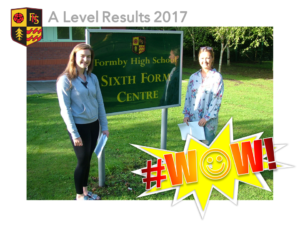 A Level Students celebrating success