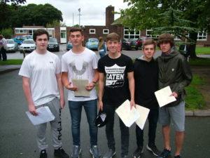 GCSE Results Students Celebrating