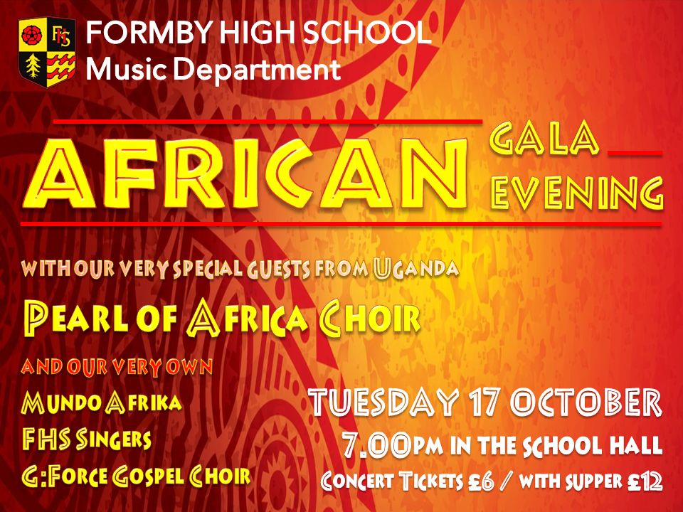 Pearl of Africa Children's Choir Gala Evening Information