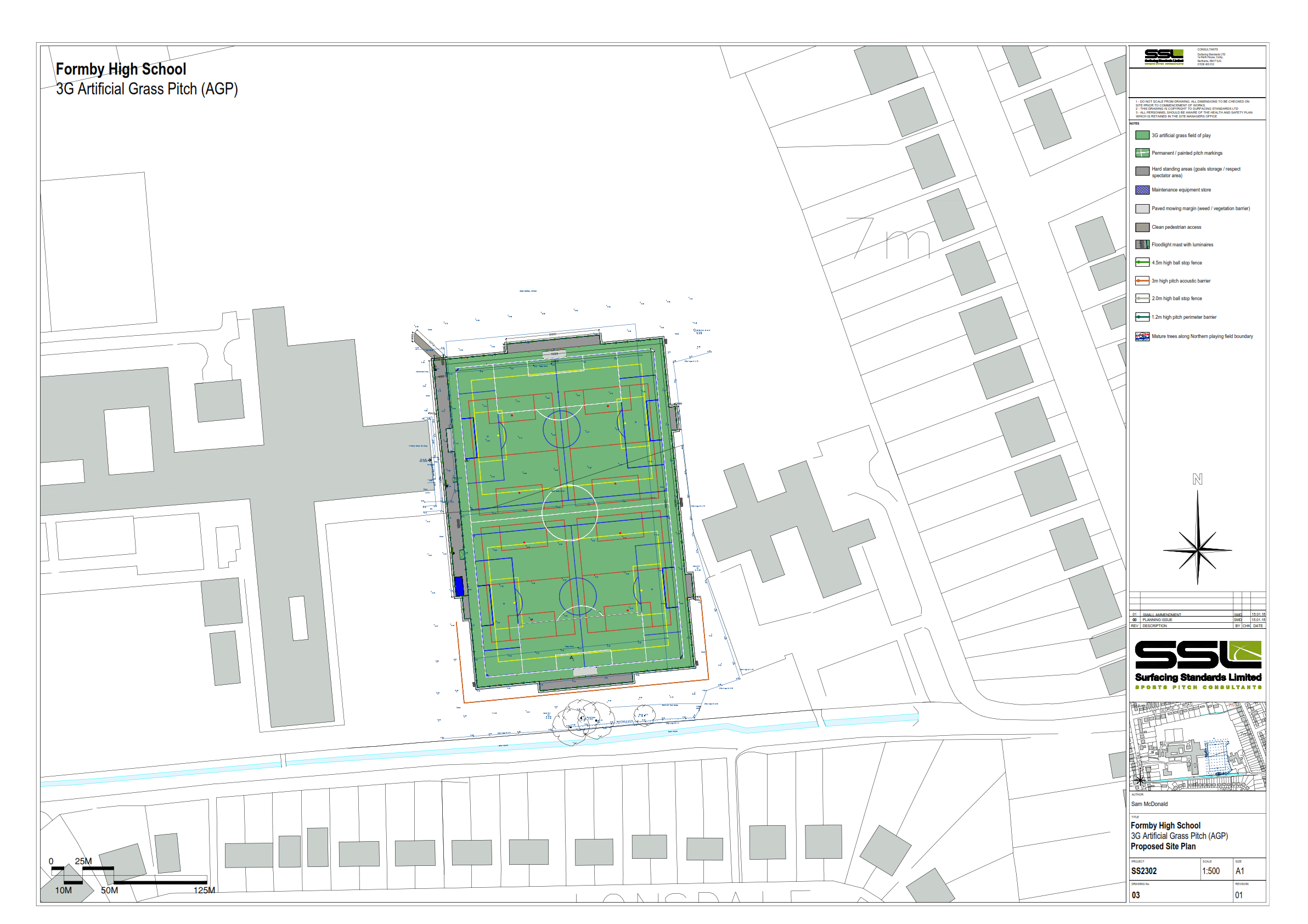 Drawings of Proposed FHS 3G Pitch