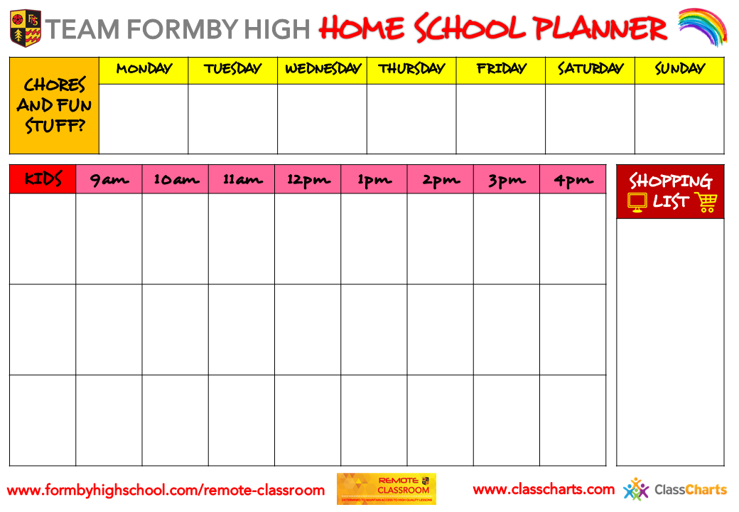 Got your Home School Planner?
